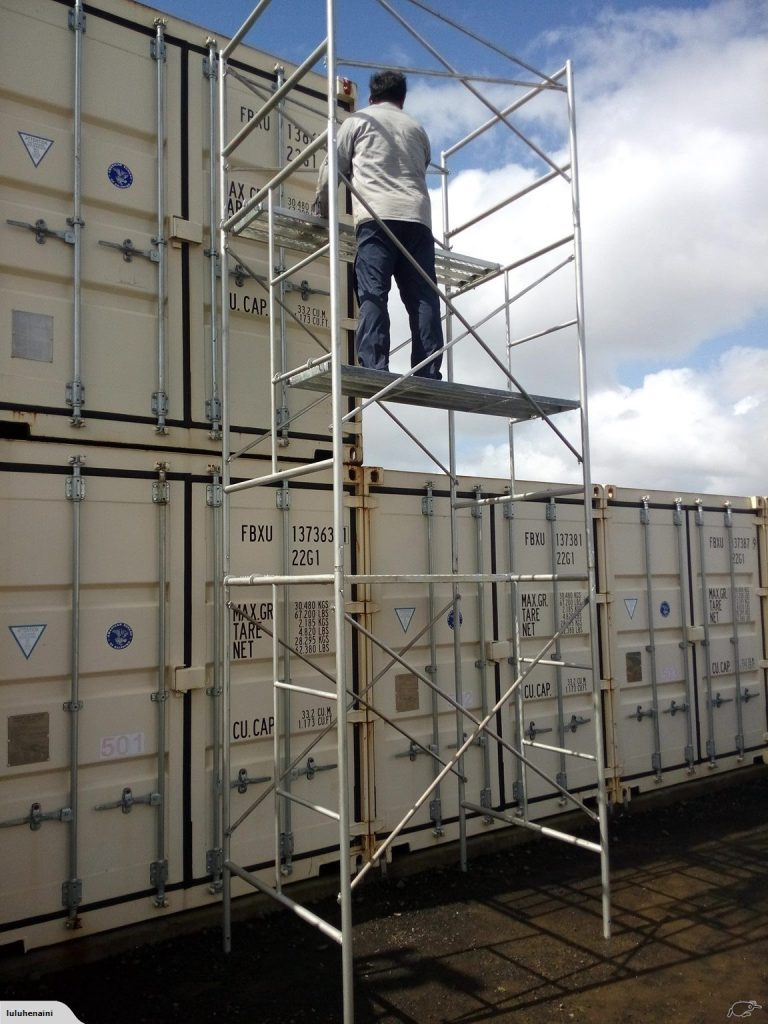 5.3m Freestanding Scaffolding Tower with Hand Rail